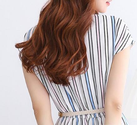 金亚麻色头发图片 短发也可以染