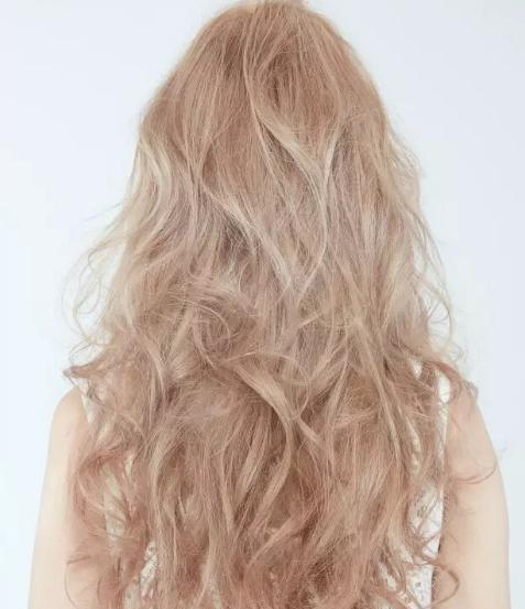 水蜜桃粉金红染发发色效果图 娇艳欲滴的摸头杀