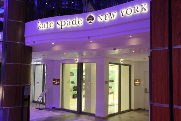"kate spade new york 入驻""皇家赞礼号""游轮"